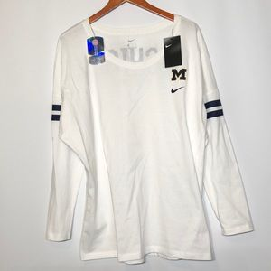 NWT Nike Michigan let's go blue Long sleeve T XXL